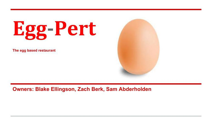 Egg-pert Restaurant Plan