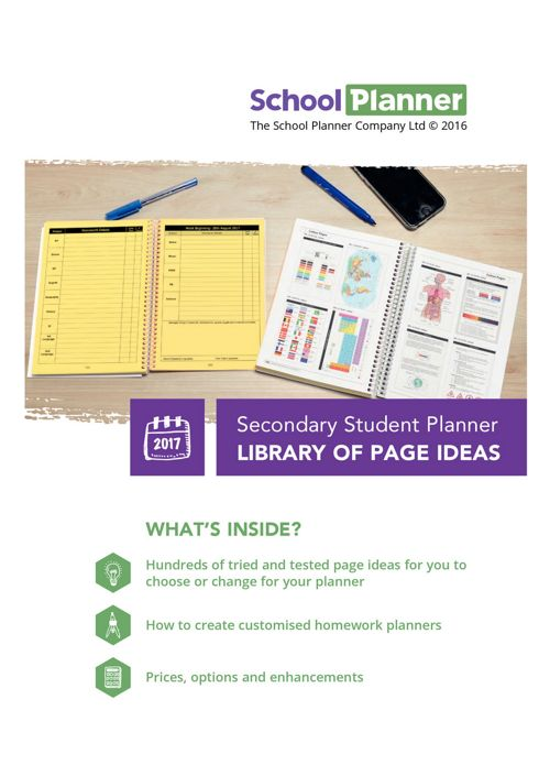 Secondary Student Planner Library