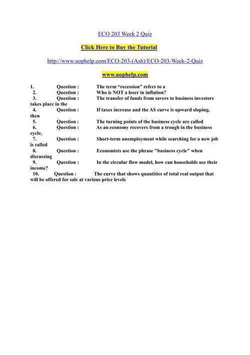 ECO 203 Week 2 Quiz