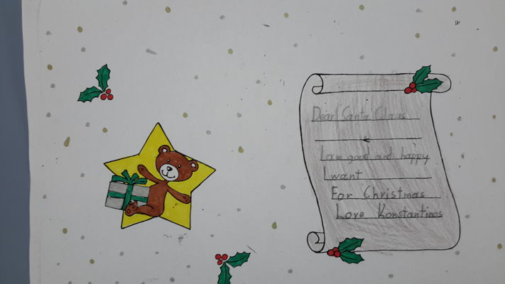 Grade B Students' Letters to Santa Claus