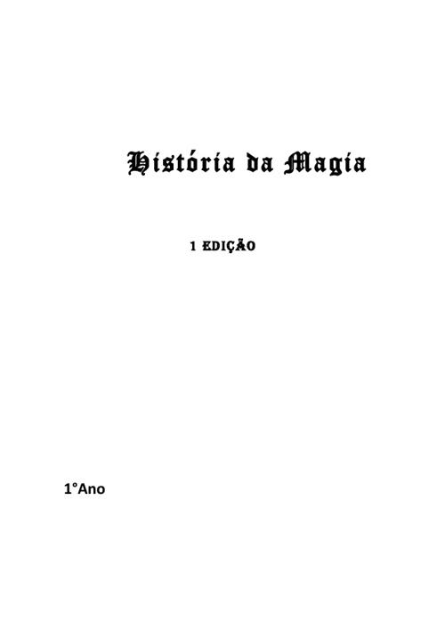 Apostila de História da Magia - 1° Ano