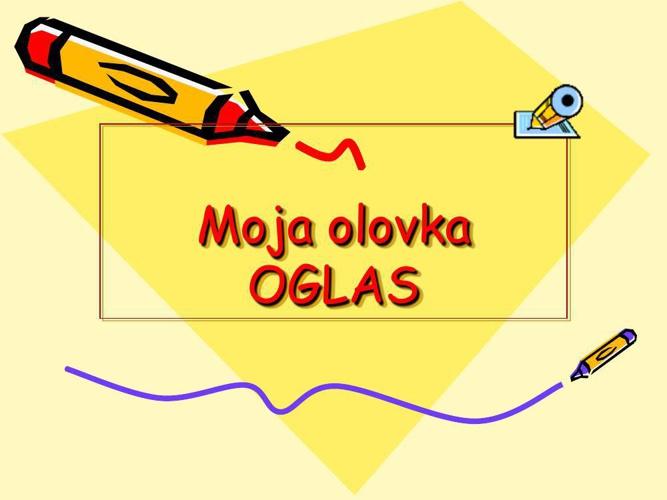 Oglas za novu olovku