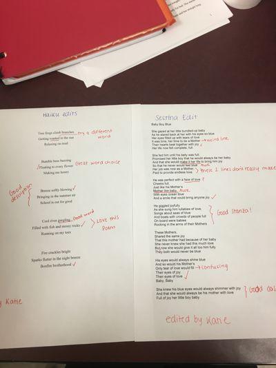 Form Poem Edits