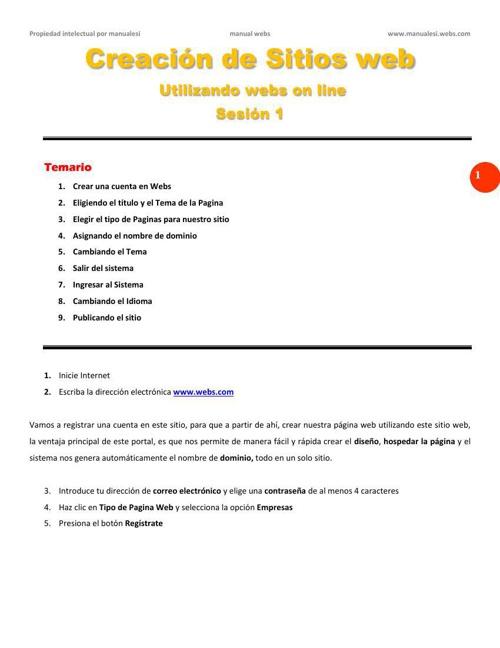 Manual de Paginas webs