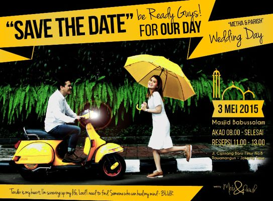 Metha and Parish Wedding Invitation