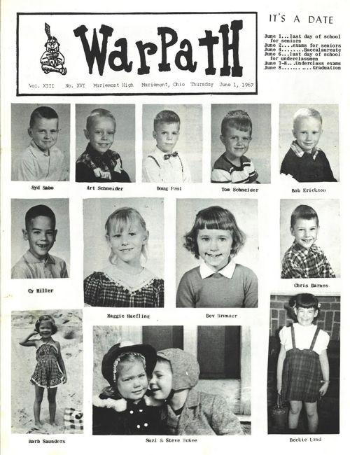 Class of 1967 Final 'Warpath' Edition