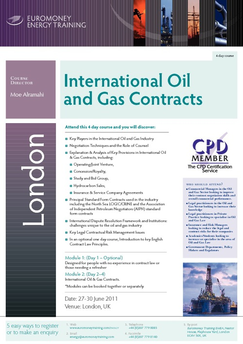 International Oil and Gas Contracts