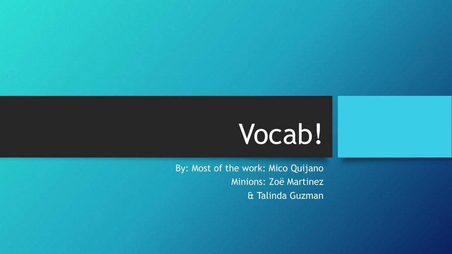 Vocab group