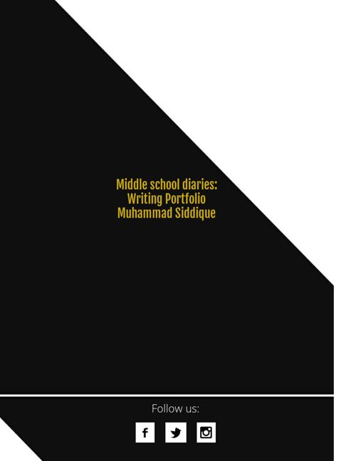 Muhammad Siddique Writing portfolio