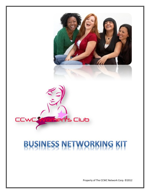 CCWC WOMENS CLUB BUSINESS KIT