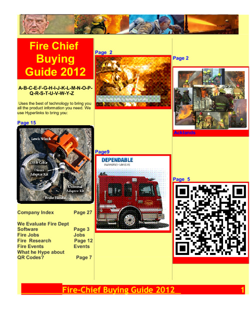 Fire Chief Media Buying Guide