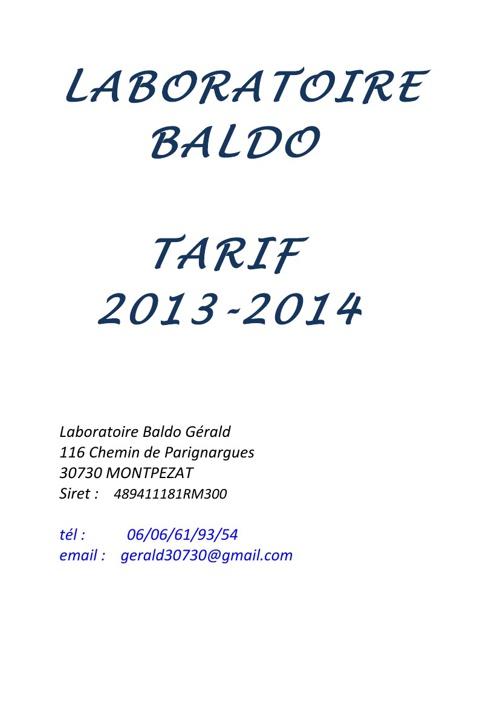 ##LABORATOIRE BALDO##