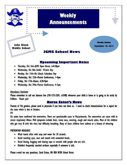 JGMS_Week_3_Announcements