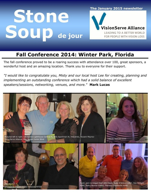 Stone Soup de jour - January 2015 Newsletter