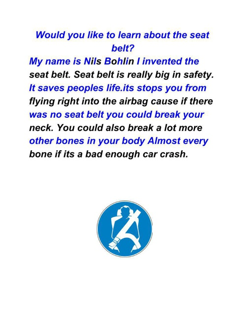The Great Seatbelt