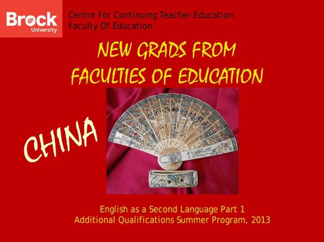 Continuing Teacher Education AQ Summer Program 2013