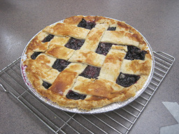 My wonderful blueberry pie.