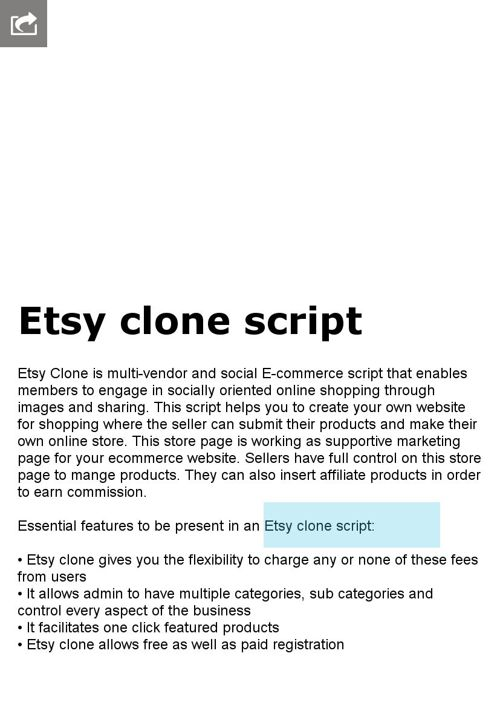 Etsy clone