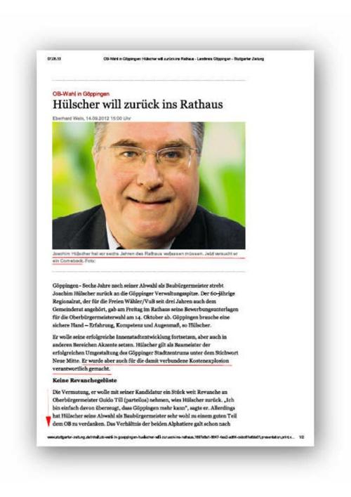 Ex-Politiker aus Göppingen