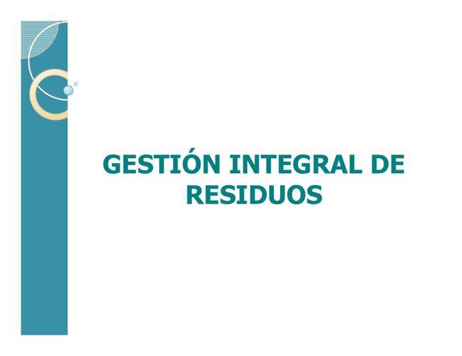 Capacitacion Gestin Integral de Residuos