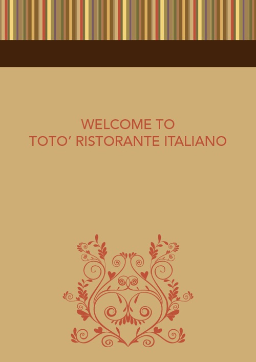 TOTO' Restaurant Menu