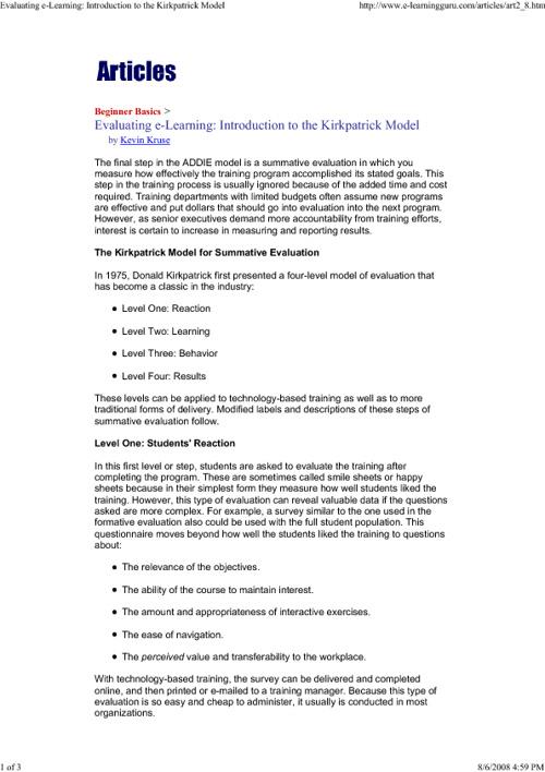 Instructional Design Info