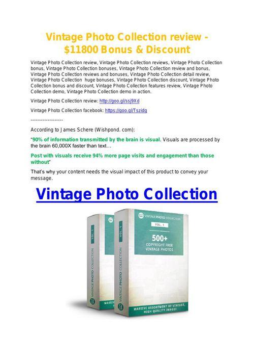 Vintage Photo Collection review & massive +100 bonus items