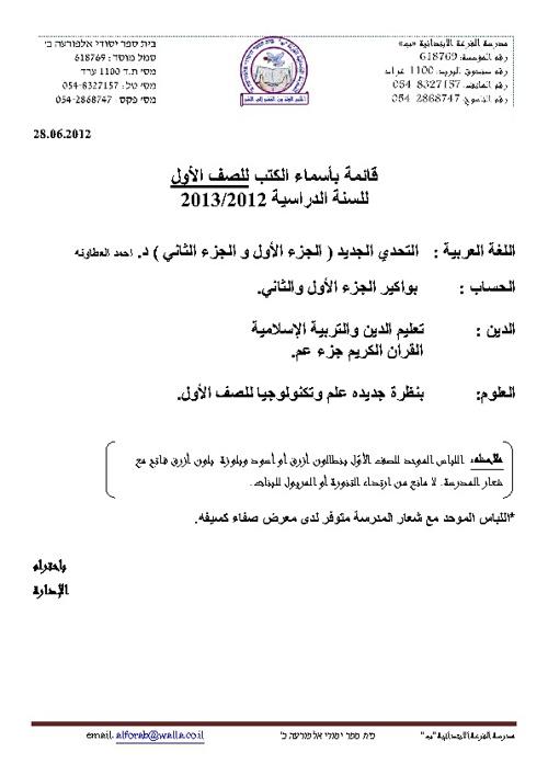 Copy of مدرسة الفرعة ب قائمة الكتب