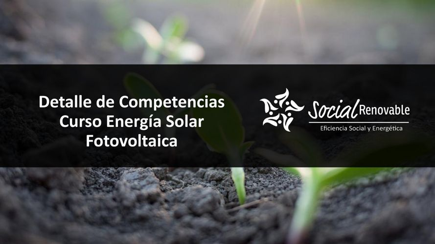 Competencias Curso energía Solar Fotovoltaica