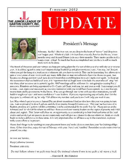 JLGC February Update