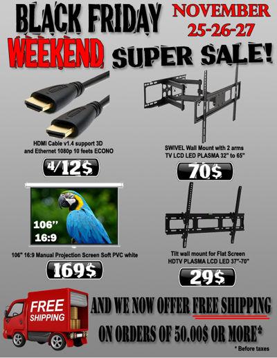 Black Friday Weekend Super Sale valid November 25-27, 2016