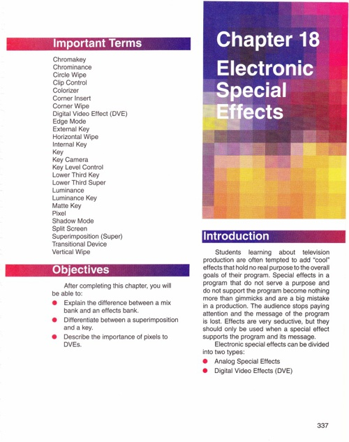 Chapter 18 Electronic Special Effects