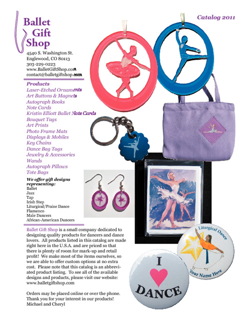 Ballet Gift Shop Catalog 2011