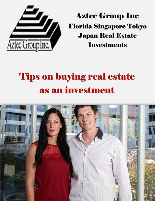 Aztec Group Inc Florida Singapore Tokyo Japan Real Estate Invest