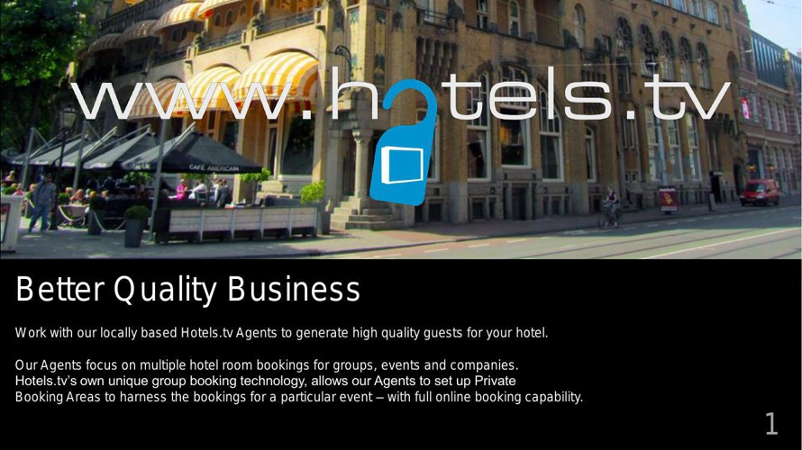 Hotels tv Brochure for Hotel Revenue  Managers Geneva