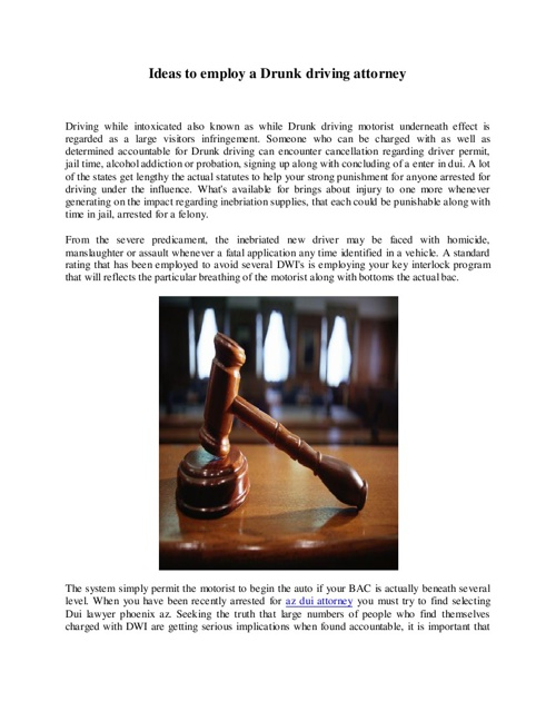 Arizona Dui Lawyer
