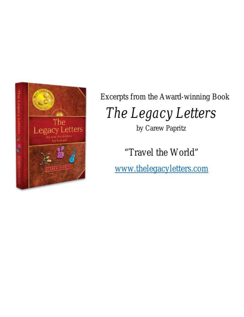 Copy of Excerpts from Award-winning--The Legacy Letters by Carew