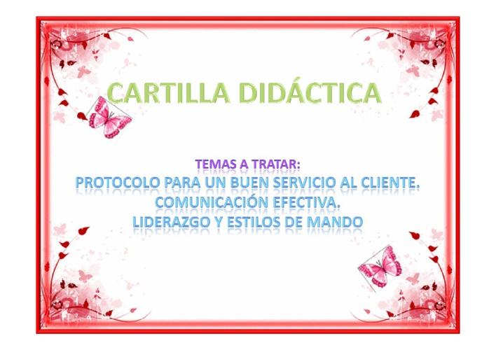 CARTILLA DIDÁCTICA GRUPO 54 DIPLOMADO