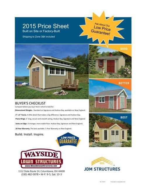 2015 JDM Price Sheet