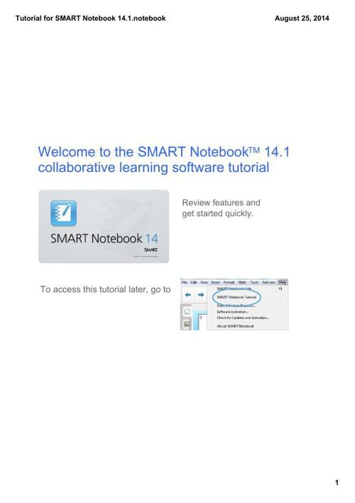 SMART Notebook 14.1