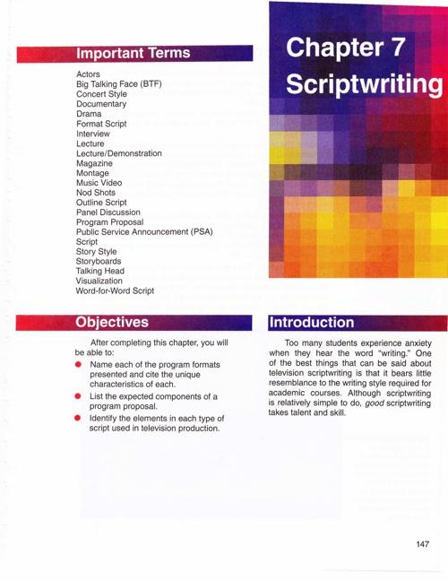 AVTF Chapter 7 Scriptwriting