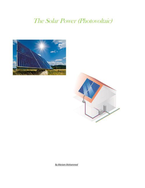 The Solar Power (PV)-pdf