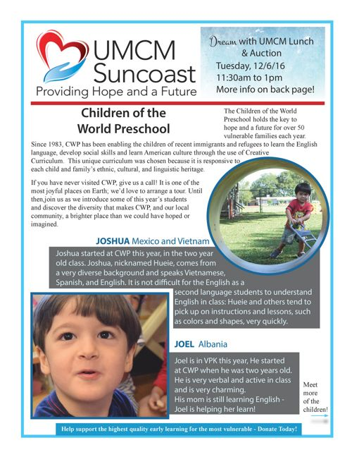 UMCM Suncoast Newsletter Fall 2016