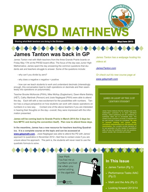 PWSD News May /June 2013