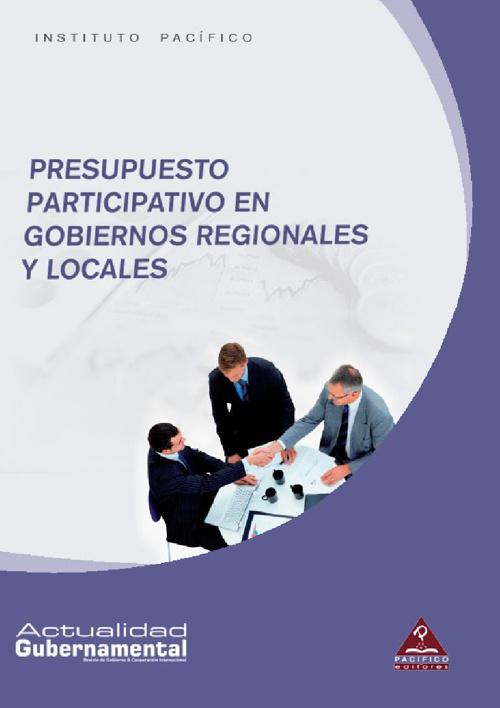 Presupuesto participativo en gobiernos regionales y locales