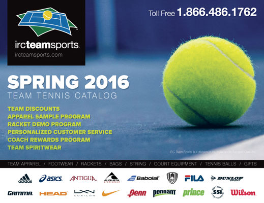 IRC Team Sports Spring 2016 Team Tennis Catalog