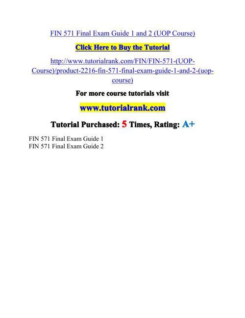 FIN 571 Potential Instructors / tutorialrank.com