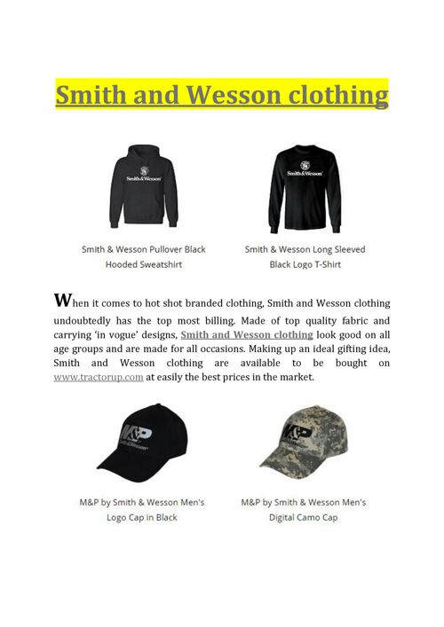 Smith and Wesson clothing