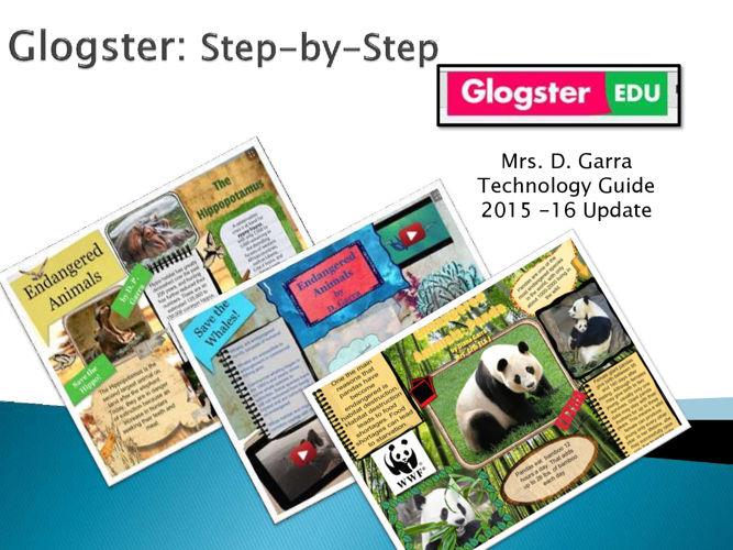 Glogster Step-by-Step Flipbook