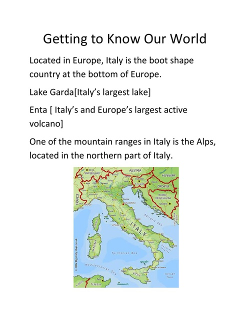Italy Travel Guide by: Lance Paitsel